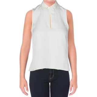 Theory Womens Silk Georgette Pullover Top