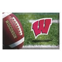 NCAA University of Wisconsin Badgers Shoe Scraper Door Mat