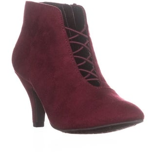 Rialto Maxine Cross Strap Ankle Booties, Bordeaux - 5 us