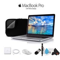 """Apple 13.3"""" MacBook Pro Silver MLUQ2LL/A With Case And Mouse - Starter Bundle"""