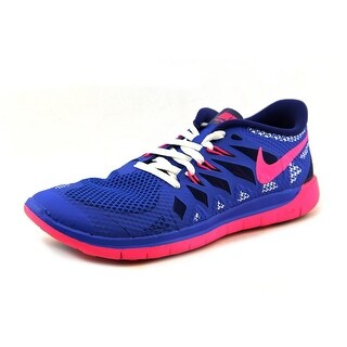 Nike Free 5.0 GS Youth Round Toe Synthetic Blue Running Shoe