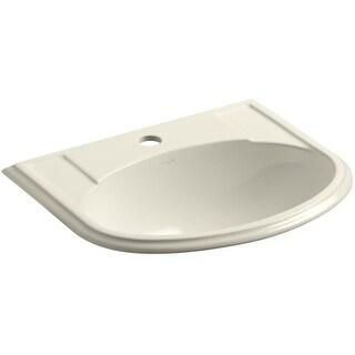"Kohler K-2279-1  Devonshire 17"" Drop In Bathroom Sink with 1 Hole Drilled and Overflow"