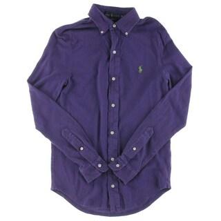 Polo Ralph Lauren Mens Polo Shirt Mesh Cotton