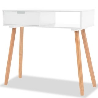 """vidaXL Console Table Solid Pinewood 31.5""""x11.8""""x28.3"""" White"""