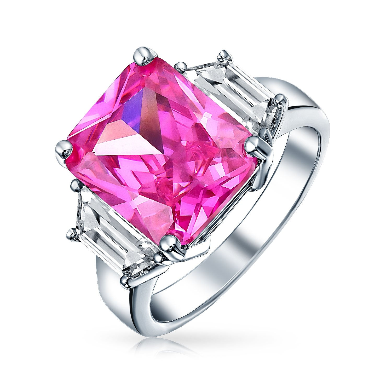 Buy Pink Cubic Zirconia Rings Online at Overstock.com | Our Best ...