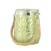 Green Flower Candle Holder