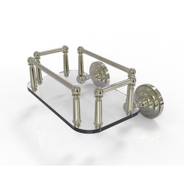 Allied Brass Que New Collection Wall Mounted Glass Guest Towel Tray