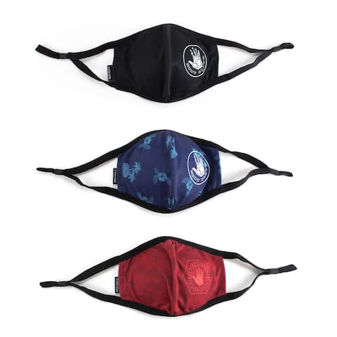 Body Glove 3-Piece Men's Cloth Face Mask Set - L