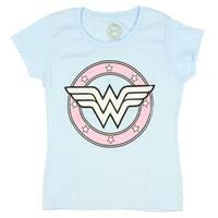 Wonder Woman DC Comics Glitter Logo Big Girls Youth T-shirt Licensed