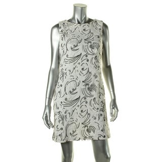 Lauren Ralph Lauren Womens Petites Embroidered Sequined Tulle Cocktail Dress - 12P