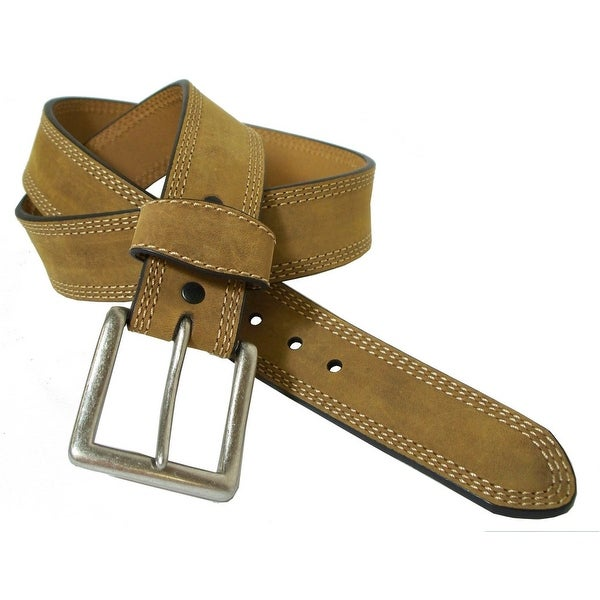 G-Bar-D Western Belt Mens Distressed Leather Silver Brown