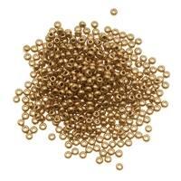 Czech Seed Beads 8/0 Light Gold Supra Metallic (1 Ounce)