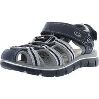 Primigi Boys Davy Adjustable Closure With Bunjee Closed Toe Sport Sandals - Blue/Gray