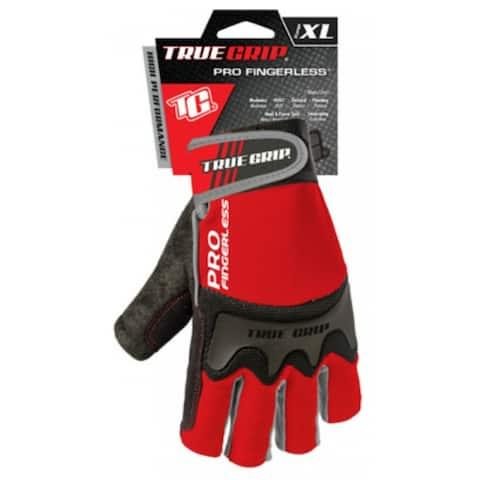 True Grip 9864-23 Pro Fingerless Gloves, Extra Large
