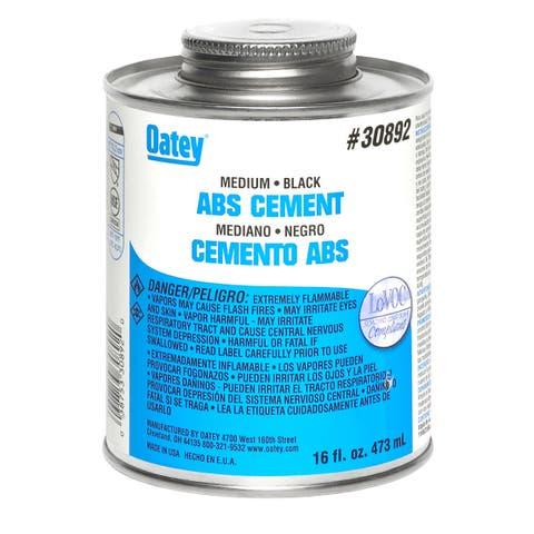 Oatey 30892 ABS Medium Solvent Cement, 16 Oz, Black