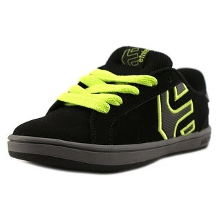 Etnies Fader LS Youth Round Toe Leather Black Skate Shoe