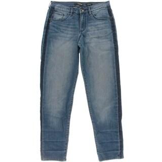 Kiind Of Womens Ex-Boyfriend Denim Striped Jeans