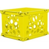 "Yellow - Mini Crate 9""X7.75""X6"""