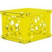 """Yellow - Mini Crate 9""""X7.75""""X6"""""""