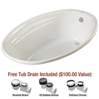 "Mirabelle MIRGAS6042V Galatia 60"" X 42"" Drop-In Soaking Tub with Reversible Drai"