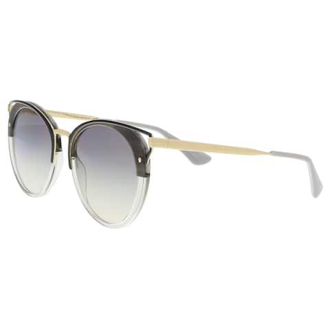 6ad26ea0a5 Prada PR 66TS MRU130 Striped Grey Cat eye Sunglasses - 54-20-145