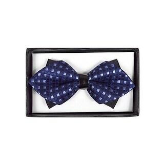 Men's Purple Checkered Diamond Tip Bow Tie - DBB3030-17