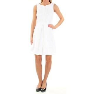 MAISON JULES $80 Womens New 1763 White Sleeveless Fit + Flare Dress XL B+B