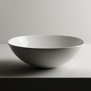 "WS Bath Collections Pod 42.42  Pod 16-7/10"" Ceramic Vessel Bathroom Sink - Gloss White"