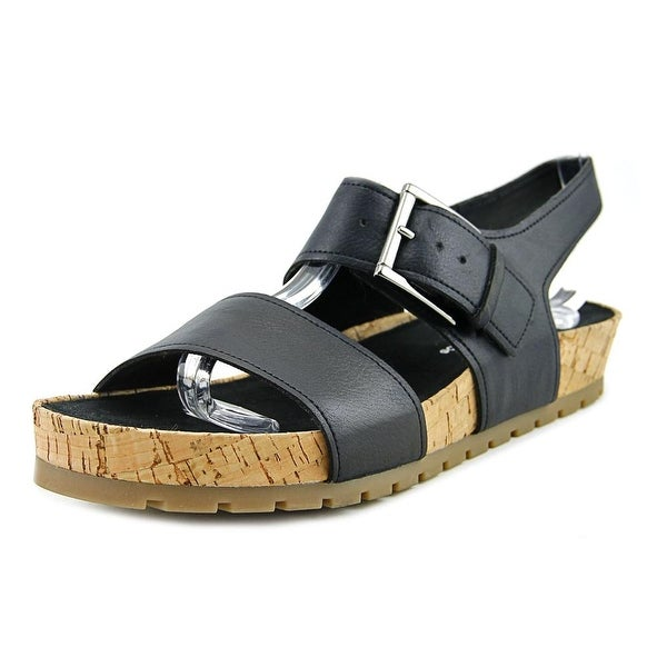 Aerosoles Compass Women Open-Toe Synthetic Black Slingback Sandal