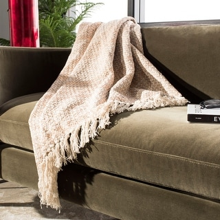 Link to Safavieh Becks Cotton Fringe Throw Blanket Similar Items in Blankets & Throws
