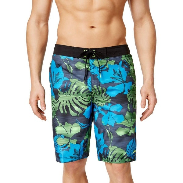 Speedo Mens Tropical Print Drawstring Swim Trunks
