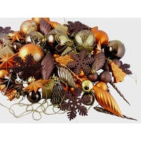 125ct Chocolate Brown and Burnt Orange Shatterproof 4-Finish Christmas Ornaments