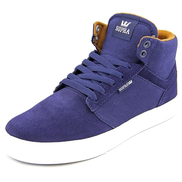 Supra Yorek Hi Men Round Toe Suede Blue Sneakers