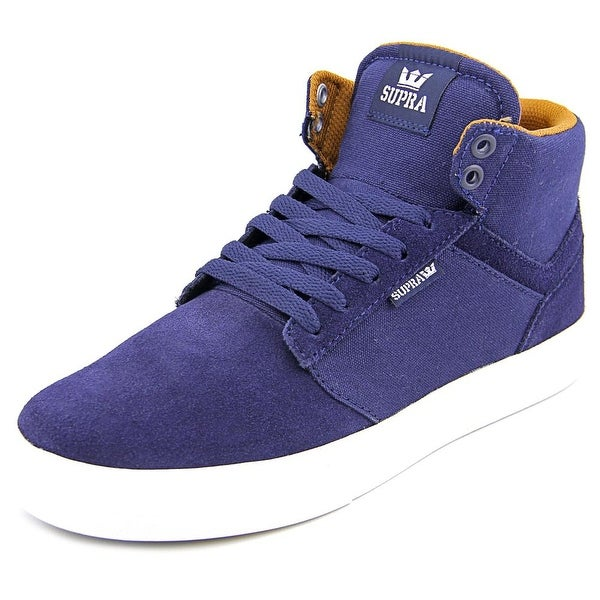 Supra Yorek Hi Men Round Toe Suede Blue Sneakers