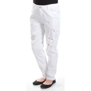 TINSELTOWN $29 Womens New 1571 White Straight leg Casual Jeans 9 Juniors B+B
