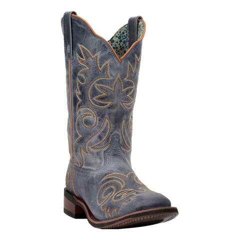 Laredo Western Boots Womens Broad Square Ella Stockman Heel Blue