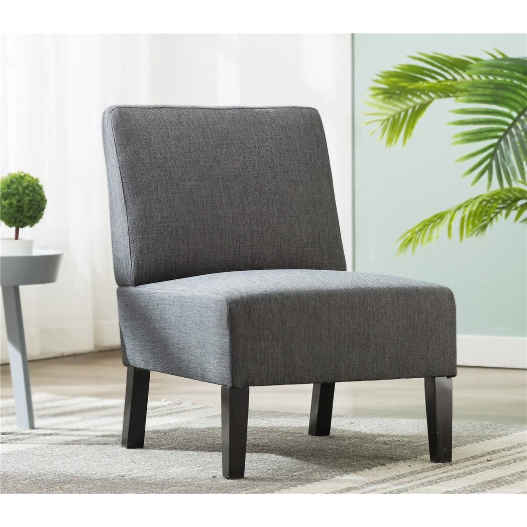Stupendous Modern Gray Fabric Accent Chair Living Room Armless Chair Caraccident5 Cool Chair Designs And Ideas Caraccident5Info