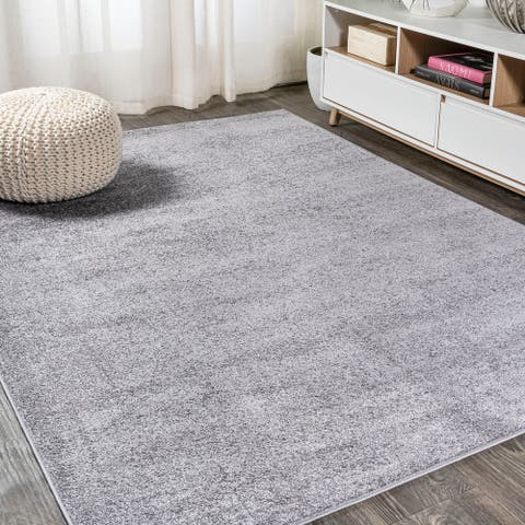 JONATHAN Y Haze Solid Low-Pile Area Rug