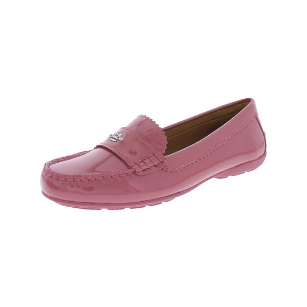 Coach Womens Odette Smoking Loafers Patent Leather Slip On