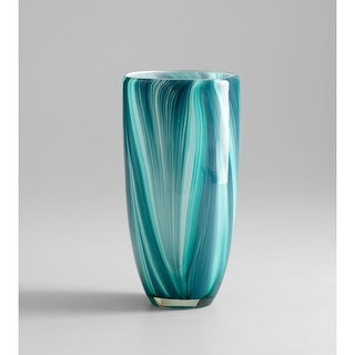 """Cyan Design 5181 10.25"""" Small Turin Vase - Turquoise Blue"""
