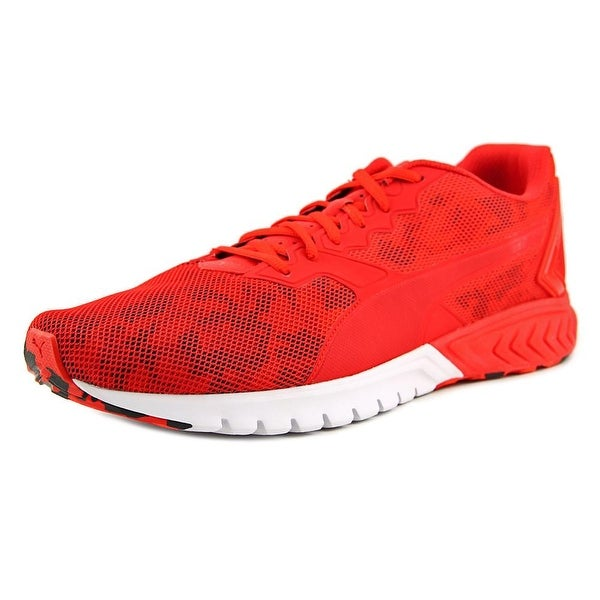 Puma Ignite Dual Camo Men Round Toe Synthetic Red Running Shoe