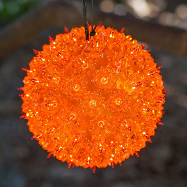 "Wintergreen Lighting 70199 10"" Mega Starlight Sphere with 150 Amber Lights"