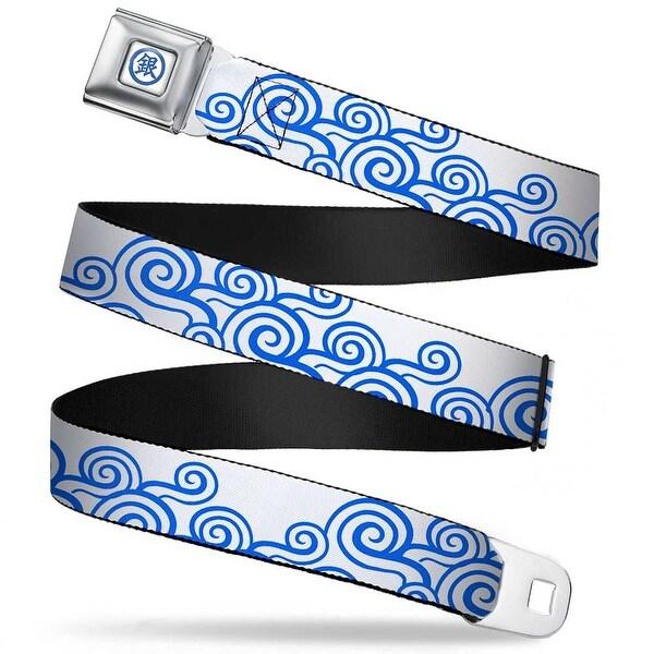 Crunchyroll Gintoki Kanji Full Color White Blue Gintoki Kimono Waves2 White Seatbelt Belt