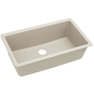 "Elkay ELGRU13322 Gourmet 33"" Single Basin Undermount Granite Kitchen Sink with Rear Drain"