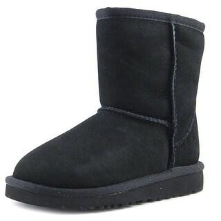Ugg Australia Classic Toddler  Round Toe Suede Black Winter Boot