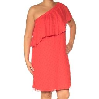 Womens Red Sleeveless Mini Shift Casual Dress Size: 12
