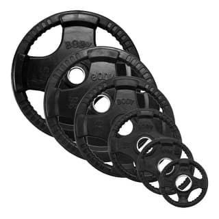 Black Rubber Quad Grip Oly Plate|https://ak1.ostkcdn.com/images/products/is/images/direct/7fd9d3d347f9c54391d3eab3657ecd39ff6ce758/Black-Rubber-Quad-Grip-Oly-Plate.jpg?impolicy=medium