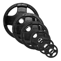 Black Rubber Quad Grip Oly Plate