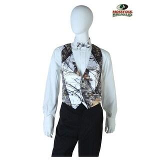 Plus Size White Mossy Oak Open Back Vest