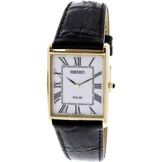 Seiko  Gold Leather Japanese Quartz Fashion Watch